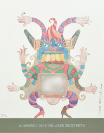 Pedro Friedeberg Pedro FRIEDEBERG Art Magical Bobpotzli Dios Del Arte Televisivo Painting