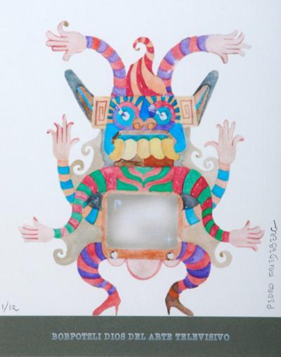Pedro Friedeberg Pedro Friedeberg Bobpotzli Dios Del Arte Televisivo Painting