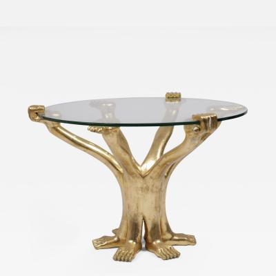 Pedro Friedeberg Pedro Friedeberg Gold Six Arm Table Signed