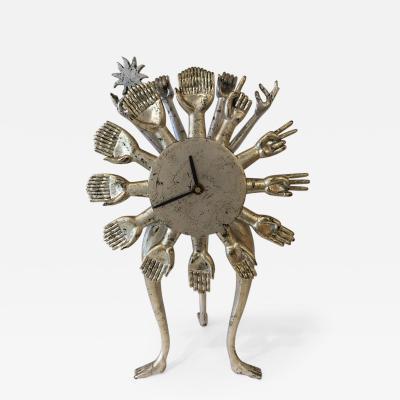 Pedro Friedeberg Pedro Friedeberg Silver Gilt Vintage Hand Clock