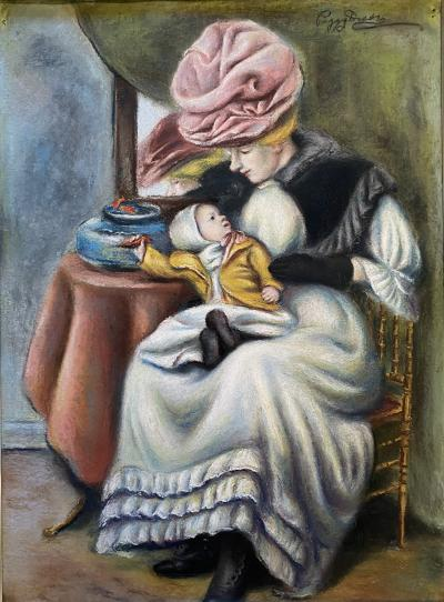 Peggy Williams Dodds Mother and Child with Goldfish