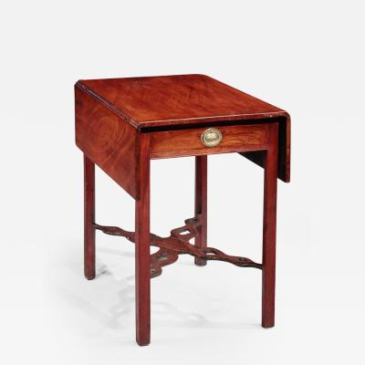 Pembroke Table with a Pierced Cross Stretcher
