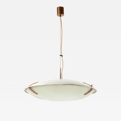 Pendant Light Model 1140 in Aluminum Brass and Glass
