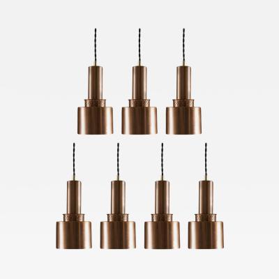Pendants T292 in Copper by Hans Agne Jakobsson
