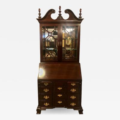 Pennsylvania House Pennsylvania House Secretary Desk Bookcase in the Chippendale Style