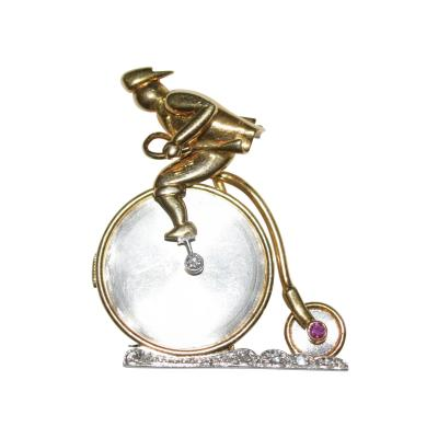 Penny Farthing Bicycle Lapel Watch