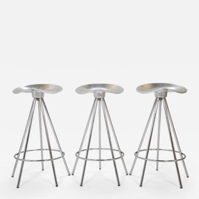 Pepe Cortez 6 metal Jamaica stools designed by Pepe Cortez for AMAT Spain