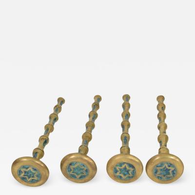 Pepe Mendoza Fancy Mexican Modernism Four Malachite Brass Table Legs Pepe Mendoza 1950s