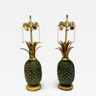 Pepe Mendoza Pair Mid Century Pepe Mendoza Pineapple Lamps