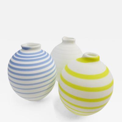 Per Bertil Sundberg Three SOFT Blown Satin Glass Vases Orrefors by Per Sundberg Sweden