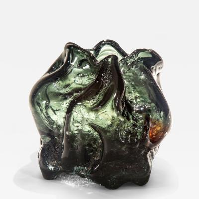 Per L tken A Large and Rare Danish Studio Glass Vase for Holmegaard