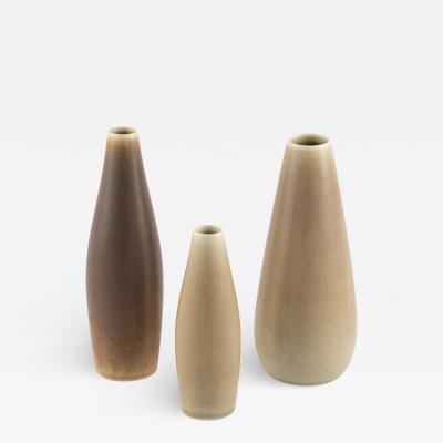 Per Linnemann Schmidt Set of 3 vases by Per Linnemann Schmidt for Palshus circa 1950s