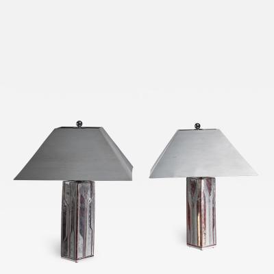 Per Rehfeldt Per Rehfeldt pair of stoneware table lamps Denmark