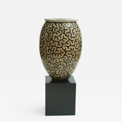 Per Weiss Giant Per Weiss Stonewear Floor Vase