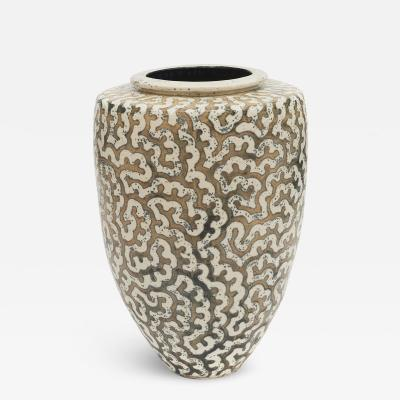 Per Weiss PER WEISS COLOSSAL STONEWARE FLOOR VASE