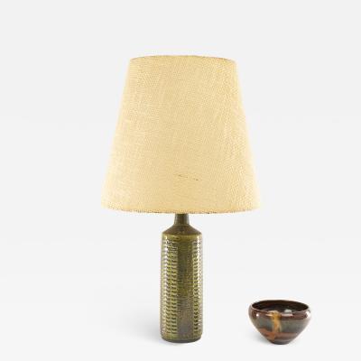 Per and Annelise Linnemann Schmidt Green silver blue table lamp model DL 27 by Per Linnemann Schmidt for Palshus