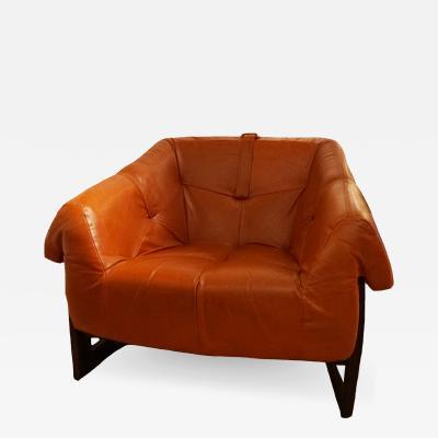 Percival Lafer Orange Percival Lafer Leather Chairs