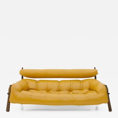 Percival Lafer Percival Lafer Brasilian Sofa in Rosewood and Leather