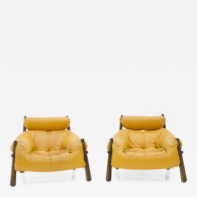 Percival Lafer Percival Lafer pair of Lounge Chairs Brazil 1972
