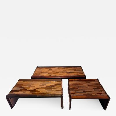 Percival Lafer Set of Brazilian Tables by Percival Lafer