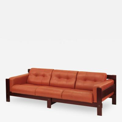 Percival Lafer Sofa with Glove Leather Upholstery by Percival Lafer