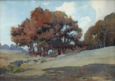Percy Gray Landscape with Oaks