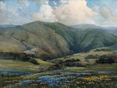 Percy Gray Marin Landscape with Poppies and Lupine