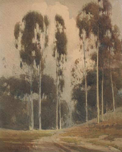 Percy Gray Northern California Landscape with Eucalypti