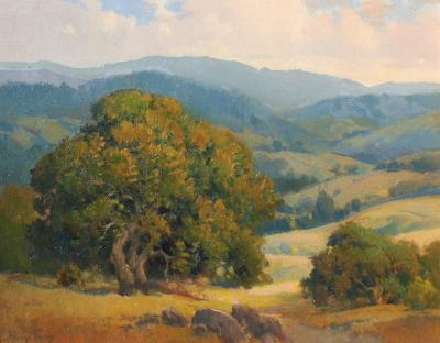 Percy Gray Northern California Landscape with Oaks