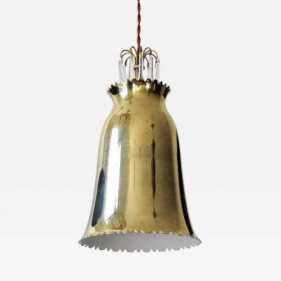 Perforated Brass Pendant 1950s