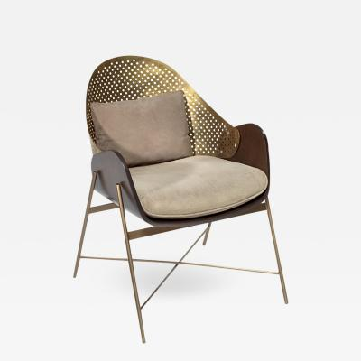 Perforated Metal Armchair
