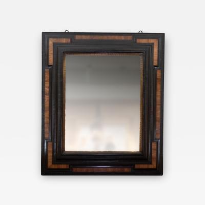 Period Dutch Baroque Walnut And Ebony Mirror