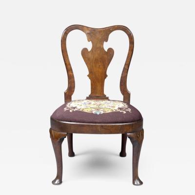 Period Queen Anne Walnut Side Chair