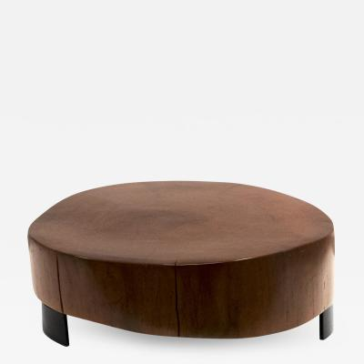 Peroba Wood Block Coffee Table