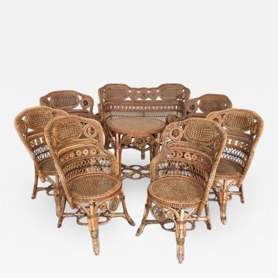 Perret et Vibert Rattan garden furniture set by Maison Perret Vibert second half of XIX Century