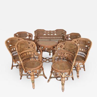 Perret et Vibert Rattan garden furniture set by Maison Perret Vibert second half of XIX Century