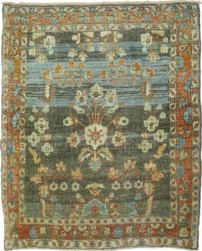 Persian Antique Earth Color Sarouk Mat rug no j1662
