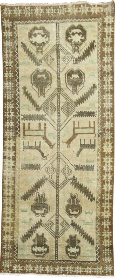 Persian Hamedan Pictorial Shabby Runner rug no r5183
