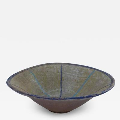 Persian Sultanabad Bowl with Minimalist Geometric Design circa 10th Century