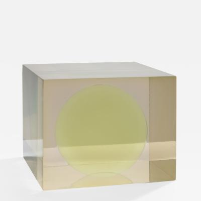 Peter Alexander Cube with Green Sphere