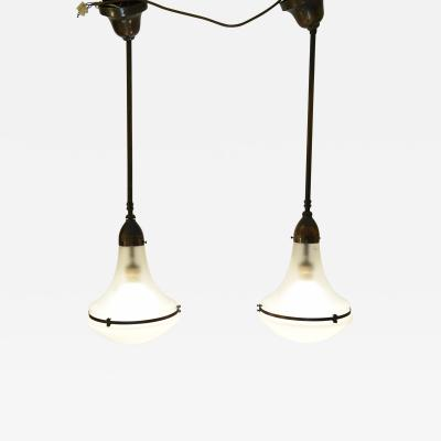 Peter Behrens German AEG Luzette Pendant Lamps Designed by Peter Behrens 1920 s 2 available