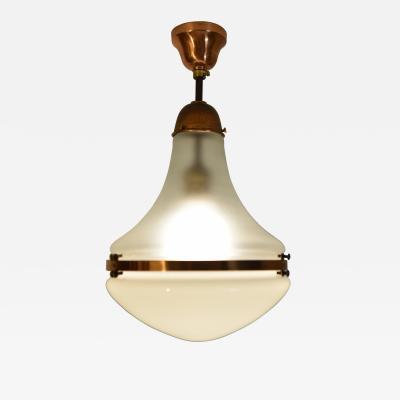 Peter Behrens German Luzette Copper Pendant lamp short rod