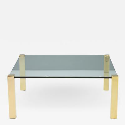Peter Draenert Large Glass Coffee Table Sokrates by Peter Draenert Germany 1970s