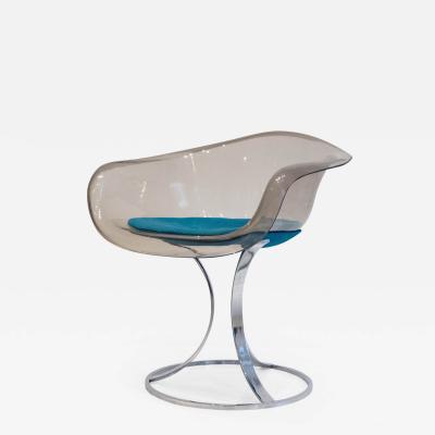 Peter Hoyte Peter Hoyte Acrylic and Chrome Chair