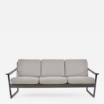 Peter Hvidt Danish Modern Rosewood Sofa Designed by Peter Hvidt