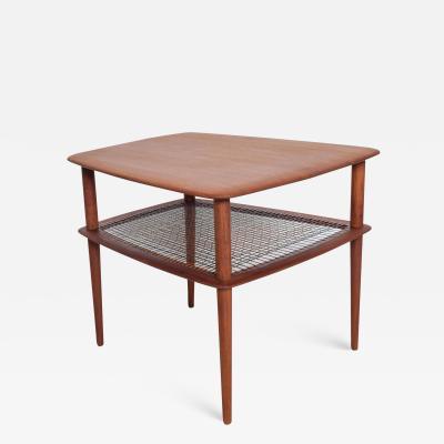 Peter Hvidt Mid Century Modern Peter Hvidt for FRANCE SON Teak Wedge Modernist Side Table
