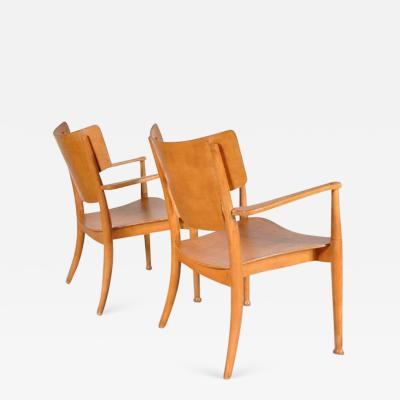 Peter Hvidt Orla M lgaard Nielsen 1940s Pair of Portex Easy Chairs by Peter Hvidt and Orla Molgaard Nielsen