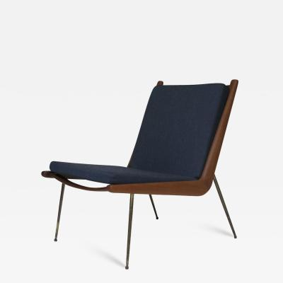 Peter Hvidt Orla M lgaard Nielsen Peter Hvidt Danish Teak Lounge Chair on Brass Legs