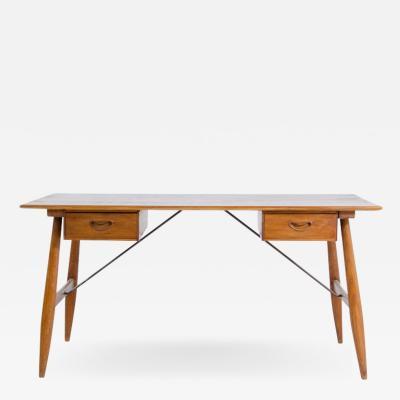 Peter Hvidt Orla M lgaard Nielsen Peter Hvidt Orla M lgaard Nielsen ash wood desk with two side drawers