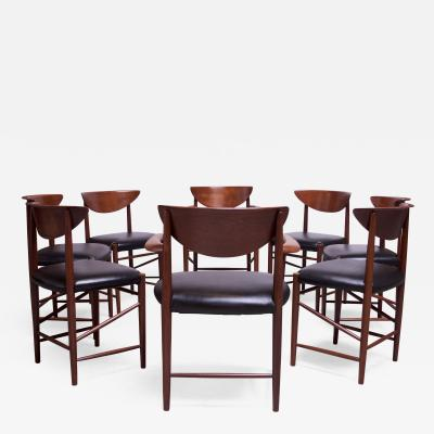 Peter Hvidt Orla M lgaard Nielsen Set of Eight Teak Dining Chairs by Peter Hvidt and Orla M lgaard Nielsen